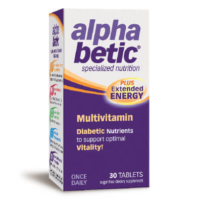 АлфаБетик (AlphaBetic) Мултивитамини за Диабетици таблетки x30